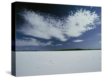 High Clouds Form Above the Dry Salt Lake-Jason Edwards-Stretched Canvas Print