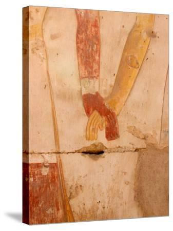Wall Painting of Figures Holding Hands, Egypt-Michele Molinari-Stretched Canvas Print