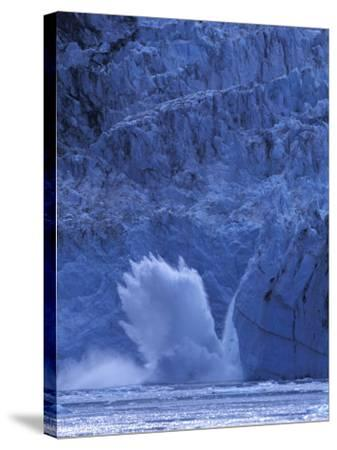 Ice Calves off Tidewater Surprise Glacier, Harriman Fjord, Prince William Sound, Alaska, USA-Hugh Rose-Stretched Canvas Print