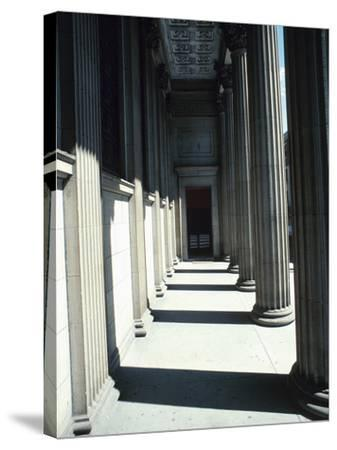 Pillar Lined Walkway - Architecture Montreal--Stretched Canvas Print