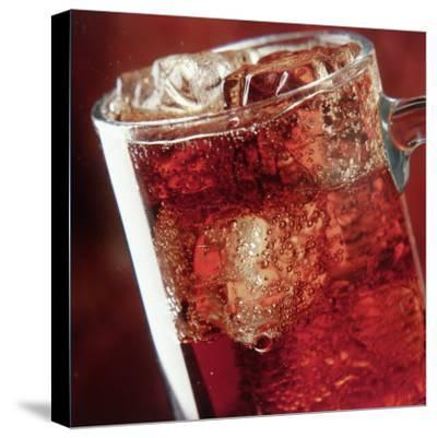 Glass of Cola Drink with Ice-John James Wood-Stretched Canvas Print