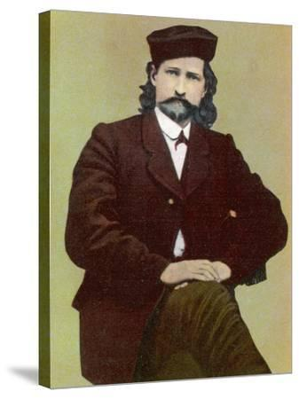 Wild Bill Hickok Alias James Butler American Frontiersman Stage Driver Scout and Us Marshal--Stretched Canvas Print