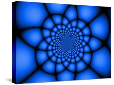 Abstract Blue Fractal Design-Albert Klein-Stretched Canvas Print