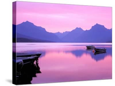 Lake McDonald at Dawn, Glacier National Park, Montana, USA--Stretched Canvas Print