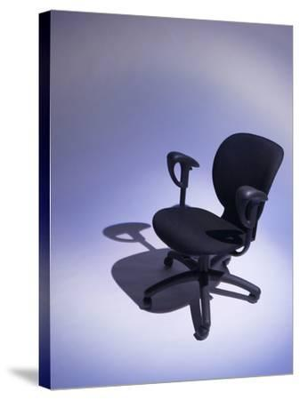 Comfortable Black Office Chair--Stretched Canvas Print