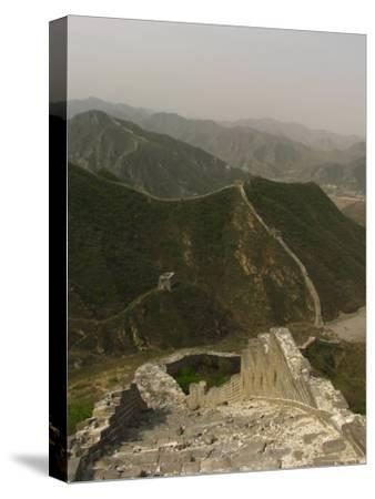 The Great Wall of China at the Juyongguan Pass-Richard Nowitz-Stretched Canvas Print