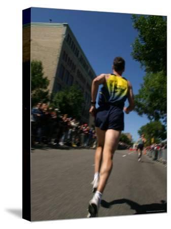 Marathon Runner-Skip Brown-Stretched Canvas Print