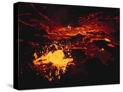 A Lake of Molten Lava Inside the Volcanos Crater-Peter Carsten-Stretched Canvas Print