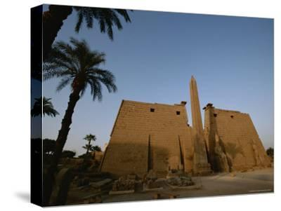 A View of the Exterior of a Temple at Luxor-Kenneth Garrett-Stretched Canvas Print