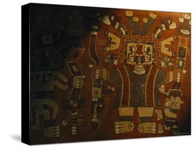 A Piece of Wari Pottery Depicting the Staff God-Kenneth Garrett-Stretched Canvas Print