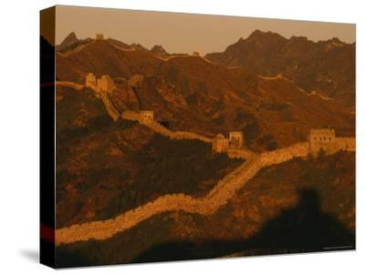 The Jinshaling Section of the Great Wall at the Beijing-Hebei Border-Raymond Gehman-Stretched Canvas Print
