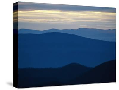 Twilight View of the Blue Ridge Mountains from Big Meadows-Raymond Gehman-Stretched Canvas Print