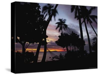 Sunset View over Marlin Bay-James L^ Stanfield-Stretched Canvas Print