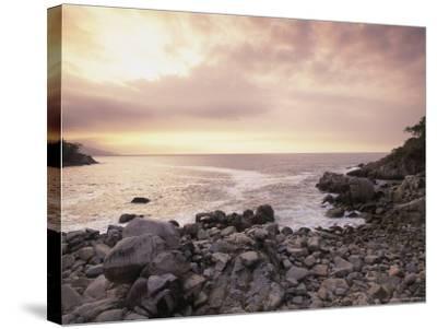 Secret Beach, Puerta Vallarta, Mexico-Walter Bibikow-Stretched Canvas Print