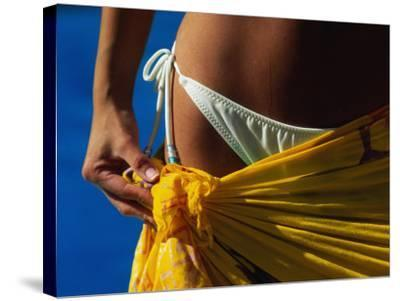 Mexican Woman with Swimwear-Mitch Diamond-Stretched Canvas Print