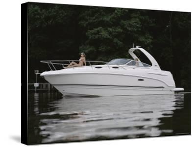 Three Adults on a Yacht--Stretched Canvas Print