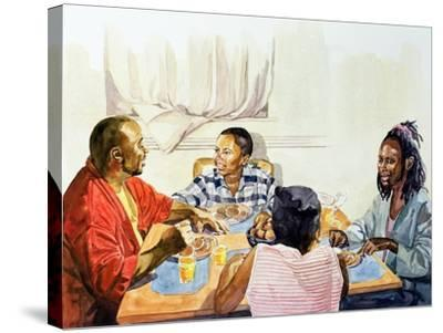 Weekend Breakfast, 2003-Colin Bootman-Stretched Canvas Print