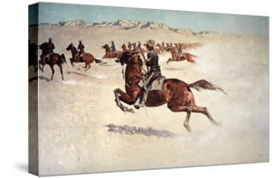 Buffalo Soldiers in Pursuit-Frederic Sackrider Remington-Stretched Canvas Print