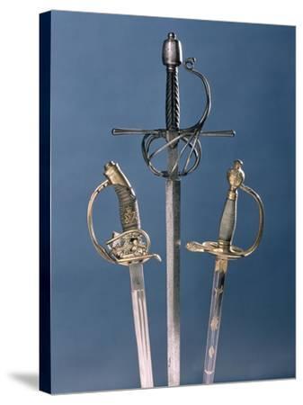 Infantry Officer's Sword, 1796, Swept-Hilt Rapier, c.1600, Prussian Officer's Sword, 1878--Stretched Canvas Print