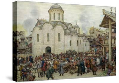 The Defence of the Town, 1918-Apollinari Mikhailovich Vasnetsov-Stretched Canvas Print