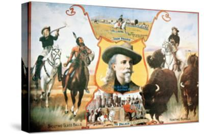 Poster For Buffalo Bill's--Stretched Canvas Print