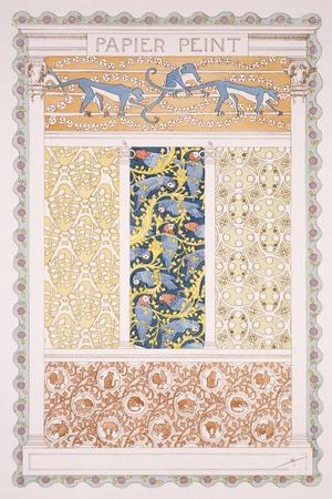 Wallpapers and Friezes, Esquisses Decoratives Binet, c.1895-Rene Binet-Stretched Canvas Print
