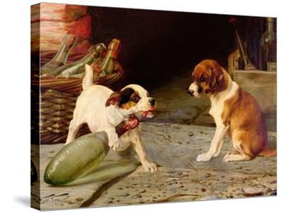 Uncorking the Bottle, 1887-William Henry Hamilton Trood-Stretched Canvas Print