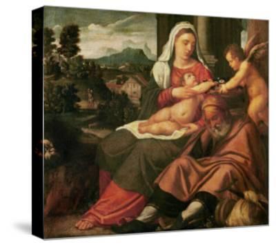 Rest on the Flight Into Egypt-Bonifacio Veronese-Stretched Canvas Print