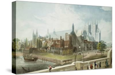 Westminster Hall and Abbey, Engraved by Daniel Havell-John Gendall-Stretched Canvas Print