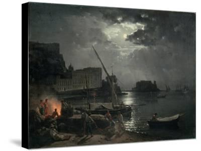 View of Naples in Moonlight, 1829-Silvestr Fedosievich Shchedrin-Stretched Canvas Print