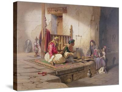 Weaver in Esna, One of 24 Illustrations Produced by G.W. Seitz, Printed c.1873-Carl Friedrich Heinrich Werner-Stretched Canvas Print