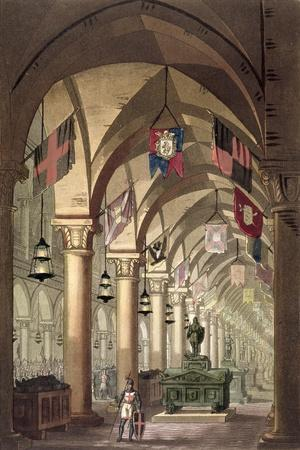 Tombs of the Knights Templar, c.1820-39-Alessandro Sanquirico-Stretched Canvas Print