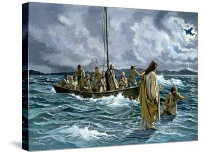 Christ Walking on the Sea of Galilee--Stretched Canvas Print