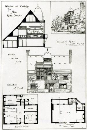 Studio and Cottage For Miss Rosa Corder, from 'The British Architect', 3rd October 1879--Stretched Canvas Print