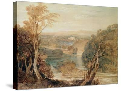 The River Wharfe with a Distant View of Barden Tower-J^ M^ W^ Turner-Stretched Canvas Print