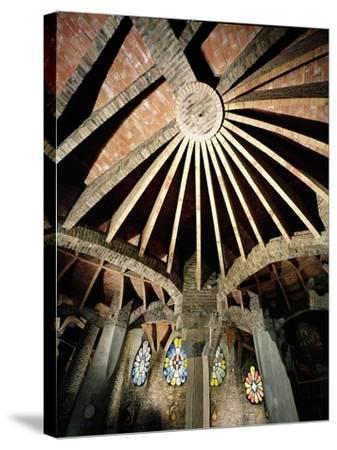Ceiling of the Guell Crypt, 1908-15-Antoni Gaud?-Stretched Canvas Print