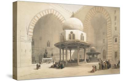 Interior of the Mosque of the Sultan El Ghoree, Cairo, from Egypt and Nubia, Vol.3-David Roberts-Stretched Canvas Print
