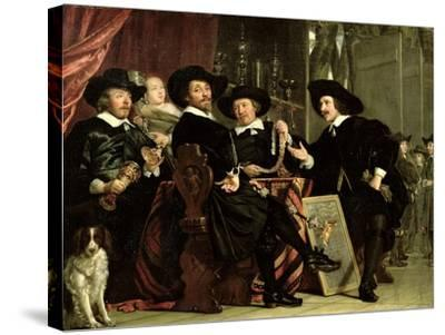 The Officials of the Company of Bowyers of St. Sebastian at Amsterdam, 1653-Bartolomeus Van Der Helst-Stretched Canvas Print