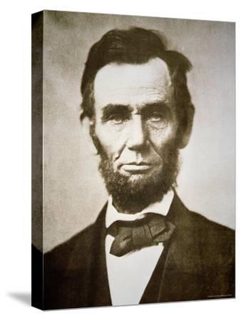 Abraham Lincoln-Alexander Gardner-Stretched Canvas Print