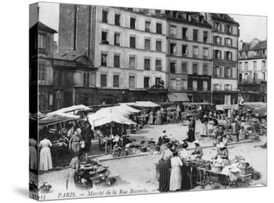 Postcard Depicting Place D'Aligre and Marche Lenoir, Rue Beccaria, Paris, 1906--Stretched Canvas Print