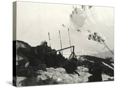 Signaling Section on Adamello During World War I--Stretched Canvas Print