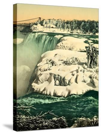 The Snow on the River Niagara--Stretched Canvas Print