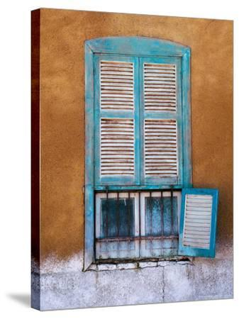 Nubian Window in a Village Across the Nile from Luxor, Egypt-Tom Haseltine-Stretched Canvas Print