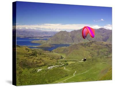 Paraglider, South Island, New Zealand-David Wall-Stretched Canvas Print