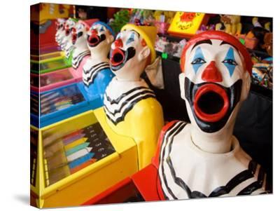 Laughing Clowns Side-Show, Rotorua, Bay of Plenty, North Island, New Zealand-David Wall-Stretched Canvas Print