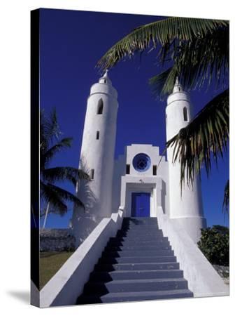 St. Peter Catholic Church, Long Island, Bahamas, Caribbean-Greg Johnston-Stretched Canvas Print