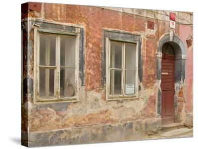 Old Building, Ceske Budejovice, Czech Republic-Russell Young-Stretched Canvas Print