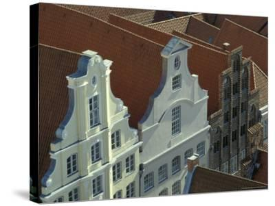 Buildings, Roofs and Facades, Lubeck, Germany-Michele Molinari-Stretched Canvas Print