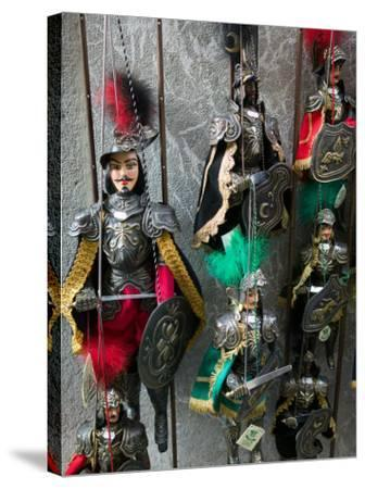 Knight Puppets, Corso Umberto 1, Taormina, Sicily, Italy-Walter Bibikow-Stretched Canvas Print