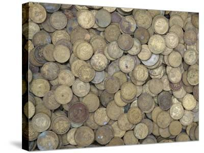 A Large Pile of Old Golden Coins--Stretched Canvas Print